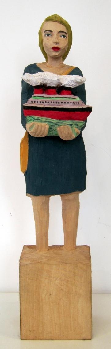 Edeka Frau [799] mit Dampfer